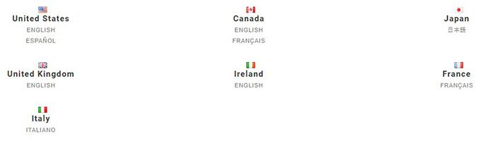Gap Survey Language Select