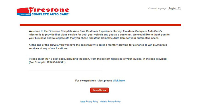 Firestone begin survey