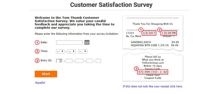 Tom Thumb Survey